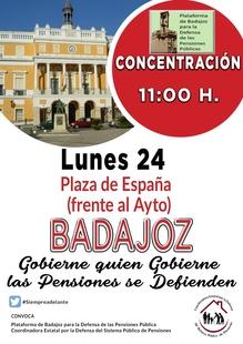 La Plaza de España acogerá una concentración el lunes por las pensiones