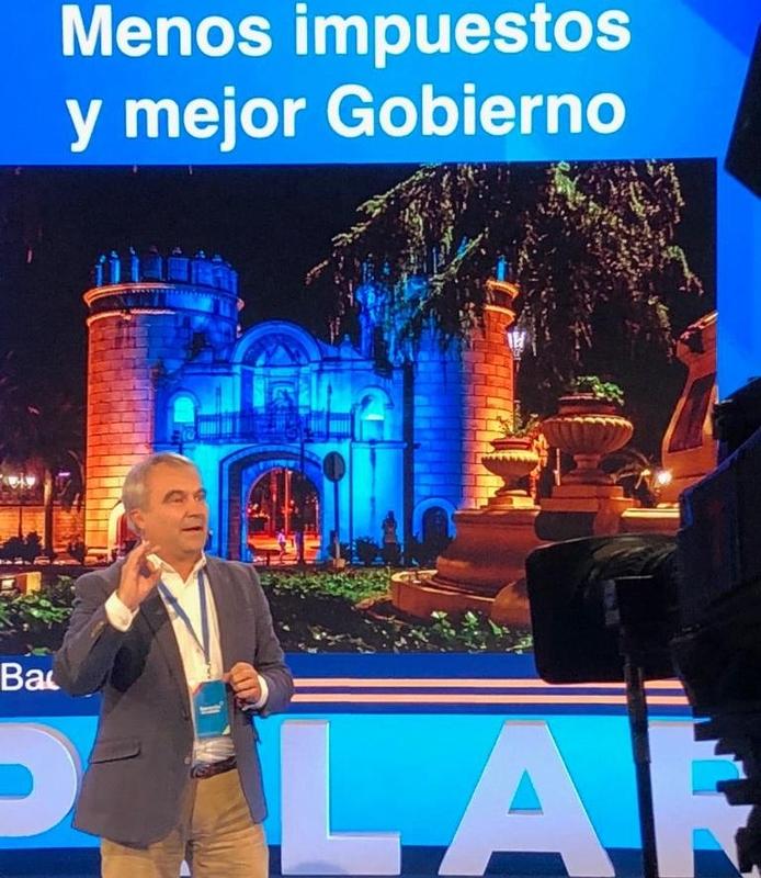 Fragoso destaca el saneamiento de las arcas municipales de Badajoz, segunda capital de provincia que menos impuestos y tasas cobra a sus ciudadanos