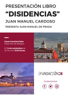 Juan Manuel Cardoso presenta ''Disidencias'' en las Casas Consistoriales