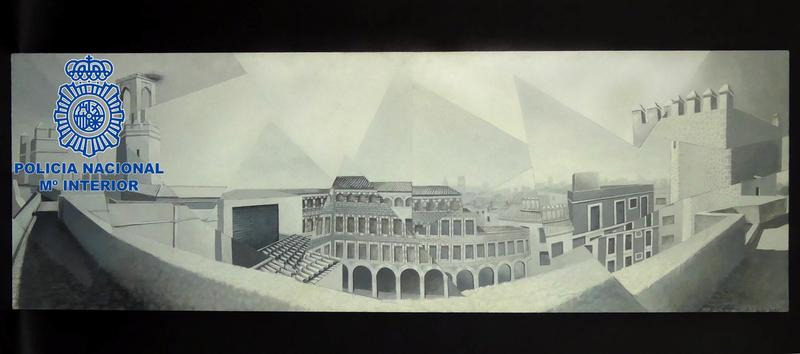 Detienen a un varón por robar una obra de arte en Badajoz