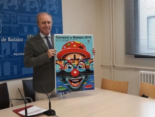 Un cartel con el Puente de Palmas y el Puente Real anunciará el Carnaval de Badajoz