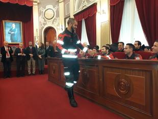 Toman posesión 17 nuevos Bomberos de Badajoz
