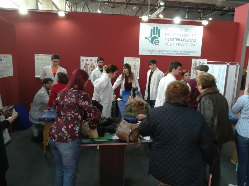 El Colegio Profesional de Fisioterapeutas de Extremadura estará presente en la Feria de Mayores
