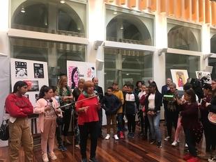 La Delegación del Gobierno en Badajoz acoge la exposición ''Stop Bullying'' para concienciar y prevenir el acoso escolar