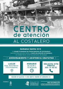 El Colegio Profesional de Fisioterapeutas de Extremadura habilita el Centro de Atención al Costalero en Badajoz para Semana Santa