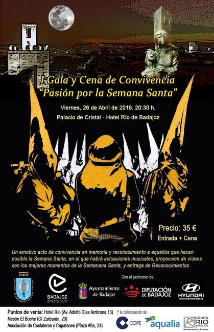 La I Gala-Cena de Convivencia ''Pasión por la Semana Santa'' se celebra este viernes