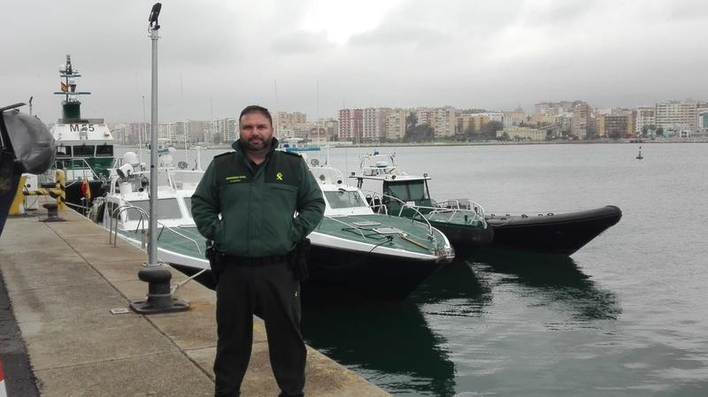 Un Cabo 1º de Badajoz participa en Algeciras en la lucha contra el narcotráfico y la inmigración irregular