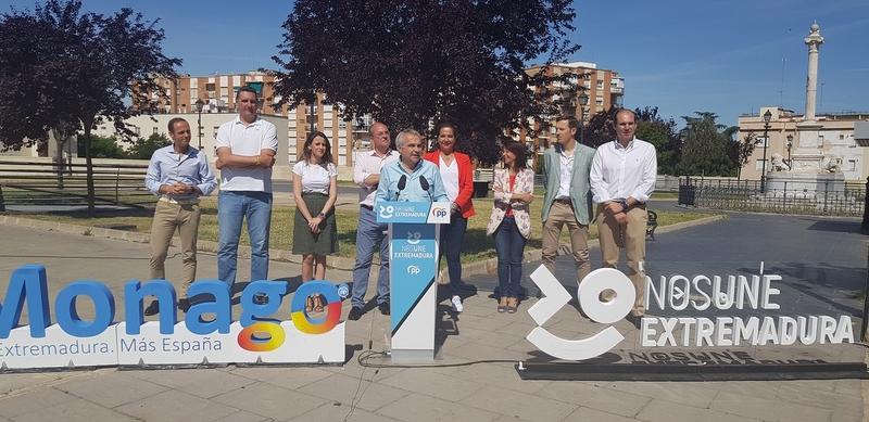 """Fragoso apuesta por seguir construyendo una Badajoz extraordinaria de """"proyectos posibles sin hipotecar el futuro de nuestros hijos"""""""