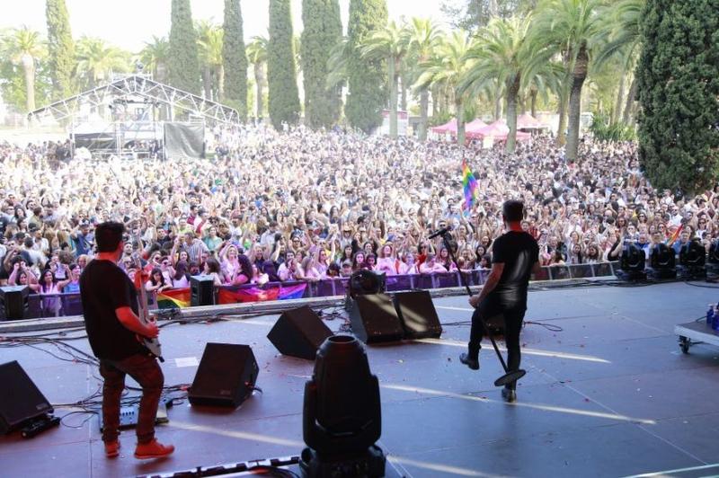 OBK actuó en Badajoz en la fiesta de la diversidad y del activismo LGBTI