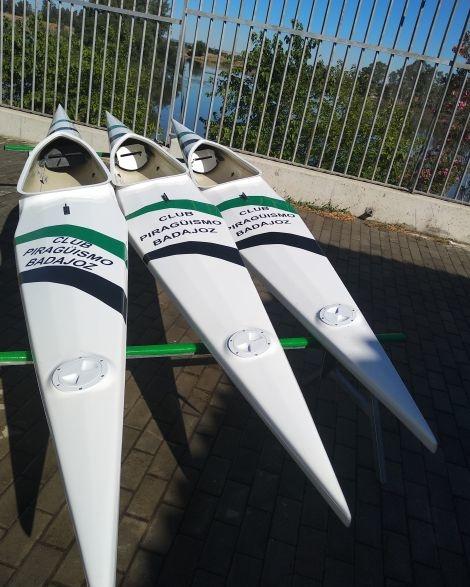El Club Piragüismo Badajoz adquiere 3 barcos para deportistas paracanoe