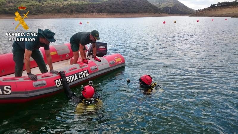 Recuperan a trece metros de profundidad, el cuerpo sin vida del hombre desaparecido en el embalse del Cíjara