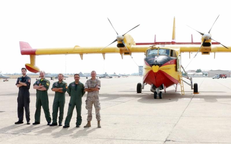 Despliega en la Base Aérea de Talavera un avión del 43 Grupo para a Lucha contra incendios Forestales