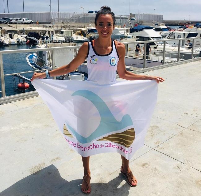 Fátima Gallardo, primera extremeña en cruzar a nado el estrecho de Gibraltar