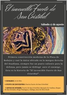 El Invencible Fuerte de San Cristóbal. Visita Guiada sábado, 17 de agosto