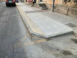 La remodelación de la parada de bus de la avenida Padre Tacoronte está prácticamente terminada