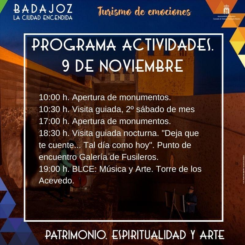 Este sábado se ofertan distintas actividades turísticas en Badajoz