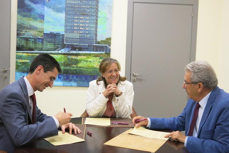 Fundación CB y Fundación Ibercaja firman un convenio con ATABAL