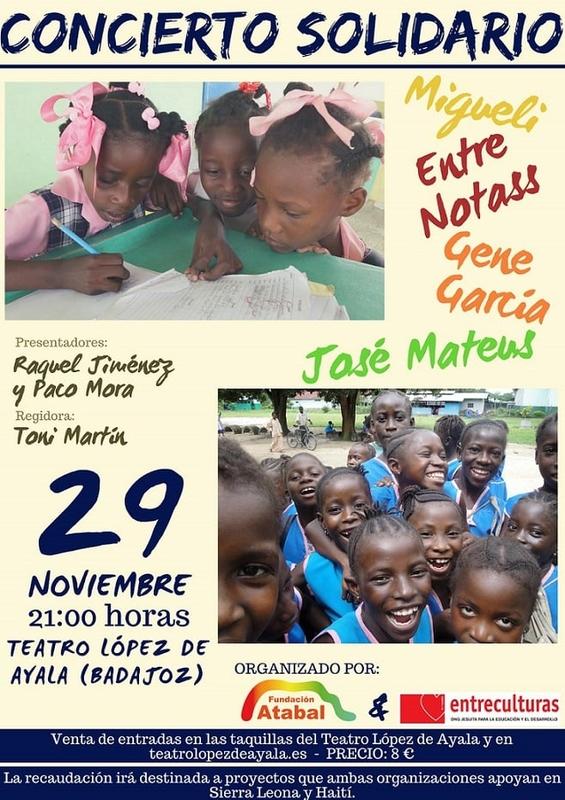 Un concierto solidario para promover la igualdad de género en Sierra Leona y Haití
