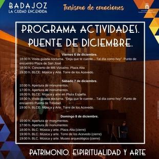 Actividades en Badajoz para el puente de diciembre