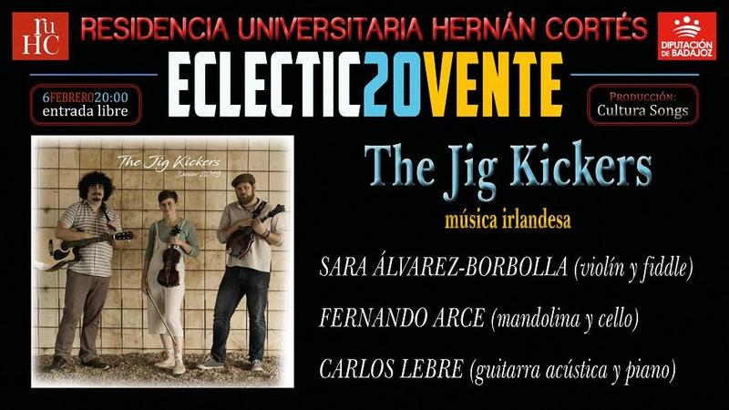 ECLECTIC20VENTE programa música irlandesa en la R.U. Hernán Cortés