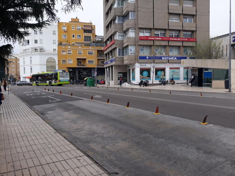 Desde hoy circulan por Badajoz cuatro autobuses menos