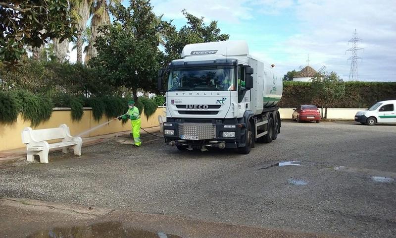 El Ayuntamiento de Badajoz prosigue con sus tareas de desinfección