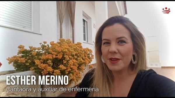 Esther Merino trabaja también como auxiliar de enfermería