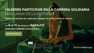 Del 8 al 11 de mayo Badajoz participa en la ''carrera más larga de la historia''