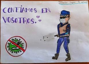 Policía local publica la trigésima séptima tanda de dibujos infantiles