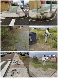 Continúan los trabajos de desbroce por toda la ciudad