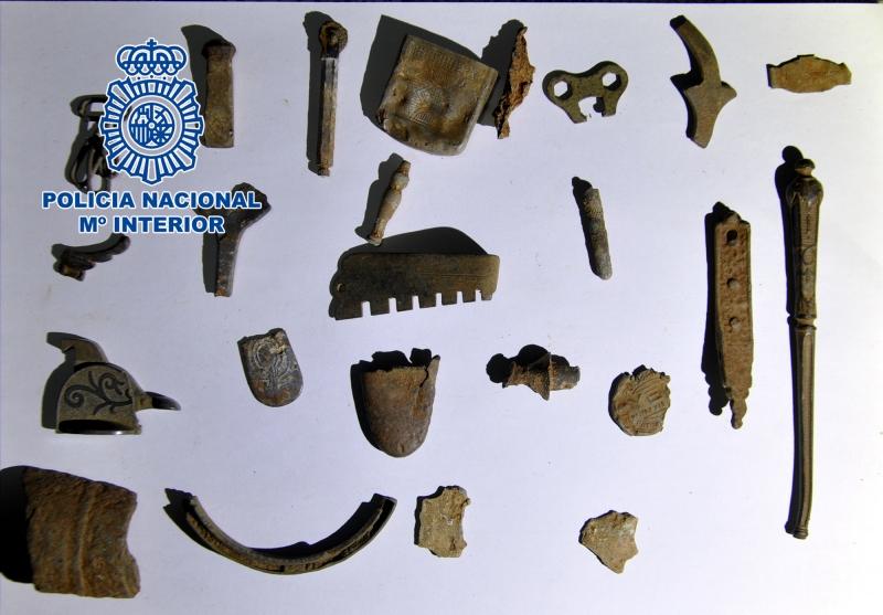 La Policía Nacional detiene en Badajoz a tres personas por expoliar yacimientos arqueológicos