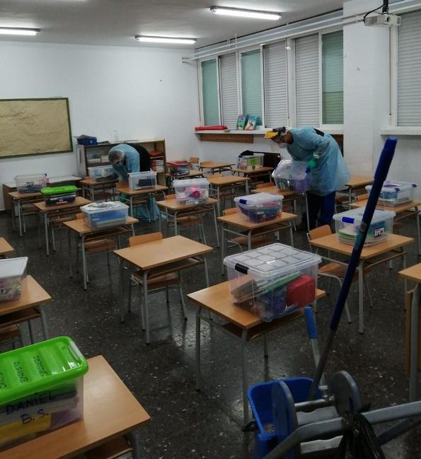 Cuatro colegios de Badajoz tienen alguna clase confinada por covid-19