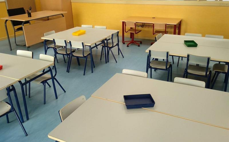 Confinadas nuevas ''aulas burbuja'' del colegio Santa Marina, General Navarro, Santo Tomás de Aquino y Nuestra Señora de Bótoa