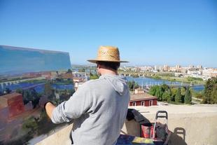 El XXI Concurso de Pintura al Aire Libre Ciudad de Badajoz dejó el nivel muy alto