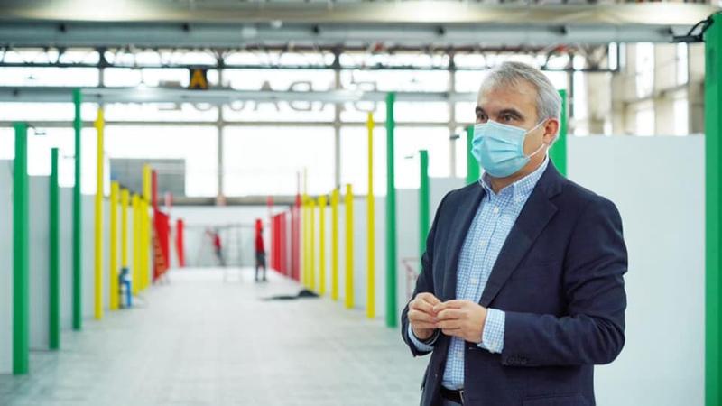 El alcalde destaca que el nuevo hospital de campaña se ha montado en un ''tiempo récord''