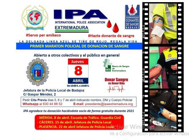 La Policía Local se adhiere al Primer Maratón Policial de Donación de Sangre