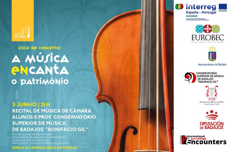 Los alumnos del Conservatorio Superior participan en el ciclo ''Música encanta o Património'' en la ciudad de Elvas