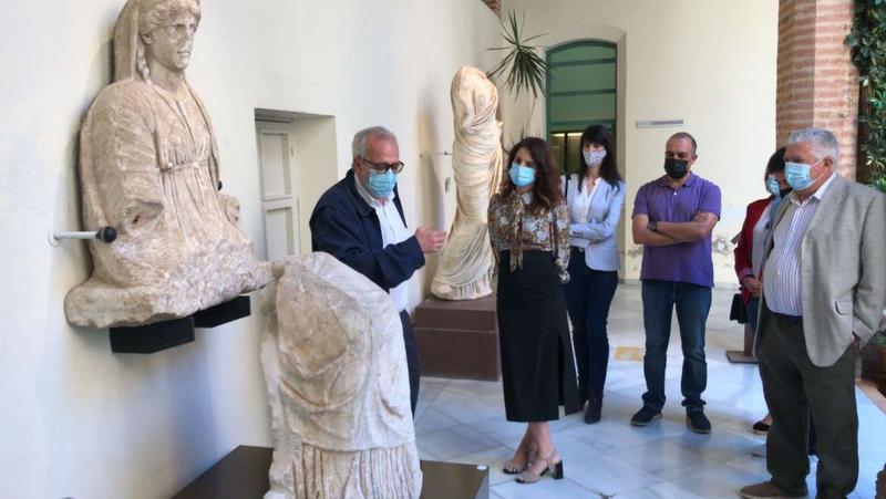 La nueva exposición del Museo Arqueológico de Badajoz incluye la estatua de la diosa Juno de Regina