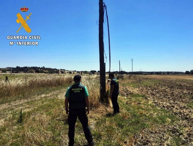 Detenido un hombre por el robo de más de 10.000 metros de cable de cobre de instalaciones de Badajoz