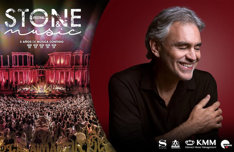 Stone&Music acoge el único concierto de Andrea Bocelli en España en este 2021