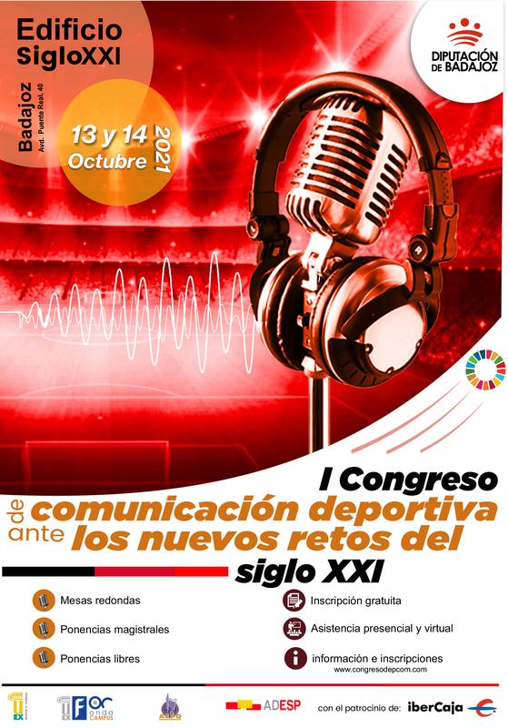 El I Congreso Comunicación y Deporte ante los nuevos retos del S.XXI se celebrará el 13 y el 14 de octubre en Badajoz