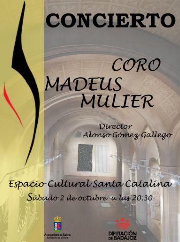 Santa Catalina acoge este sábado un concierto del Coro Amadeus Mulier