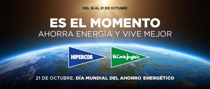 El Corte Inglés celebra el Día Mundial del Ahorro Energético apagando las fachadas de sus centros